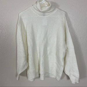 NWT H&M ivory cowl neck pullover sweater